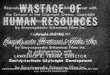 Still frame from: Wastage of Human Resources