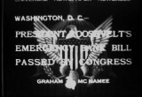 Still frame from: President Roosevelt's Emergency Bank Bill Passed By Congress 1933/03/09