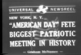 Still frame from: 'American Day' Fete Biggest Patriotic Meeting In History, 1941/05/20