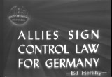 Still frame from: Allies Sign Control Law For Germany,1945/06/14