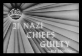 Still frame from: Twenty-one Nazi Chiefs Guilty,  1946/10/08