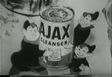 Still frame from: 1954 Commercial for Ajax cleaner