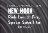Still frame from: New Moon. Reds Launch First Space Satellite, 1957/10/07