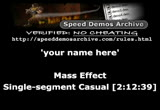 Still frame from: February 20, 2013 SDA Speed Runs