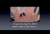 Still frame from: Walk a Mile in Her Shoes