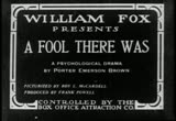 Still frame from: A Fool There Was