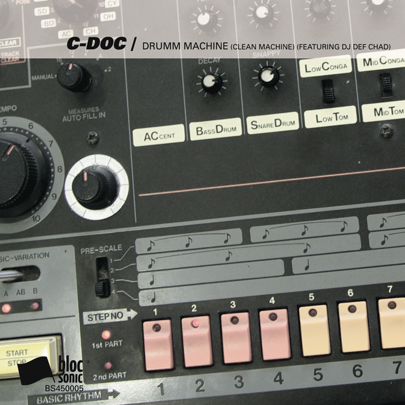 Cover of C-Doc's 'Drumm Machine (Clean Machine) (Featuring DJ Def Chad)'