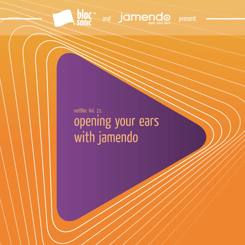 Cover of netBloc Volume 21: opening your ears with jamendo