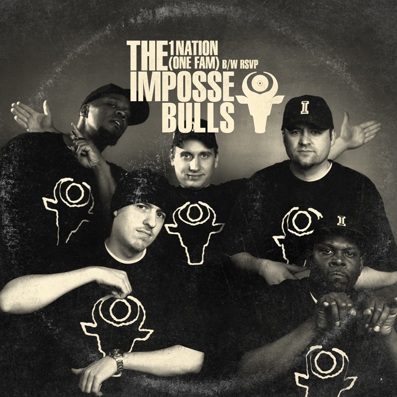 Cover of The Impossebulls '1Nation (One Fam) B/W RSVP'