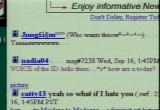 Still frame from: Chat Rooms