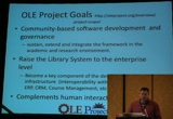 Still frame from: Code4Lib 2009: A new frontier - the Open Library Environment (OLE)