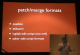 Still frame from: Code4Lib 2009: How I Failed To Present on Using DVCS for Managing Archival Metadata