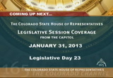 Still frame from: Colorado House 2013 Legislative Day 23