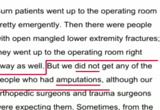 Still frame from: Boston Emergency Hospital Unintentionally Confirms - The Injuries Are FAKE