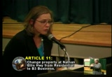 Still frame from: Falmouth Town Meeting Spring 2010, Night 1, Part 1