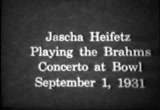 Still frame from: Jascha Heifetz rehearsal Hollywood Bowl