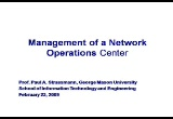 Still frame from: Lecture on Network Control Centers
