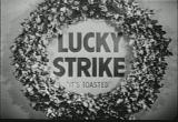Still frame from: 50's Lucky Strike Cigarette commercial with 'Christmas' theme