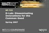 Still frame from: MIT SP.723 D-Lab: Disseminating Innovations for the Common Good, Spring 2007