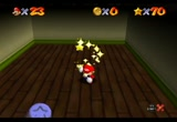 Still frame from: N64 Super Mario 64 '120 Stars' in 1:20:41.52 by MKDasher, Nahoc, sonicpacker, Bauru, Eru, Goronem, Jesus, Kyman, Mokkori, Moltov, Nothing693, pasta, SilentSlayers, Snark, and ToT