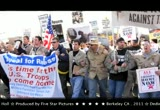 Still frame from: Occupy USA - Democracy (Is Coming) - Leonard Cohen - 2012
