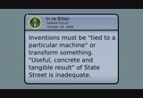 Still frame from: Patent Absurdity