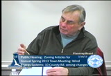 Still frame from: Planning Board February 19, 2013