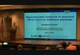 Still frame from: SciPy 2010 - Sergey Fomel - Reproducible research in practice: Python as interface language in the Madagascar software package