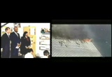 Still frame from: The Bush Split-screen 9/11 Video