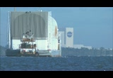 Still frame from: Shuttle External Fuel Tank for Hubble Mission Arrives for Preps