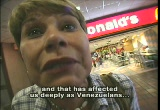 Still frame from: Venezuela Bolivariana: People and Struggle of the Fourth World War [Venezuela Bolivariano: Pueble y Lucha de la IV Guerra Mondial] (Venezuela 2004)