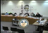 Still frame from: Zoning Board of Appeals December 20, 2012