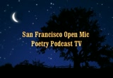 Still frame from: Jack Foley & Cesar Love Read Poetry on the San Francisco Open Mic Poetry Podcast TV Show