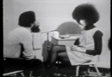 Still frame from: A conversation with Angela Davis
