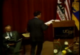 Still frame from: Dr. Sooy Memorial Service, November 3, 1986