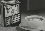 Still frame from: Baker's 4-in-1 Cocoa Mix, 1950s (dmbb04417)