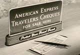 Still frame from: American Express Travelers Cheques, 1960s (dmbb09701)
