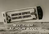 Still frame from: American Express Travelers Cheques, 1960s (dmbb09718)
