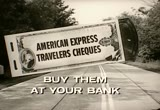 Still frame from: American Express Travelers Cheques, 1960s (dmbb09720)