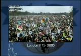 Still frame from: Democracy Now! Monday, February 17, 2003