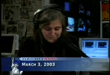 Still frame from: Democracy Now! Monday, March  3, 2003