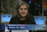 Still frame from: Democracy Now! Tuesday, March 18, 2003
