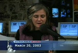 Still frame from: Democracy Now! Thursday, March 20, 2003