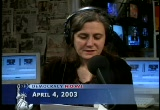 Still frame from: Democracy Now! Friday, April  4, 2003