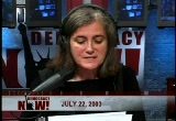 Still frame from: Democracy Now! Tuesday, July 22, 2003