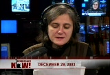 Still frame from: Democracy Now! Monday, December 29, 2003