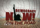 Still frame from: Democracy Now! Monday, April 20, 2009
