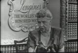 Still frame from: LONGINES-WITTNAUER WITH ELEANOR ROOSEVELT