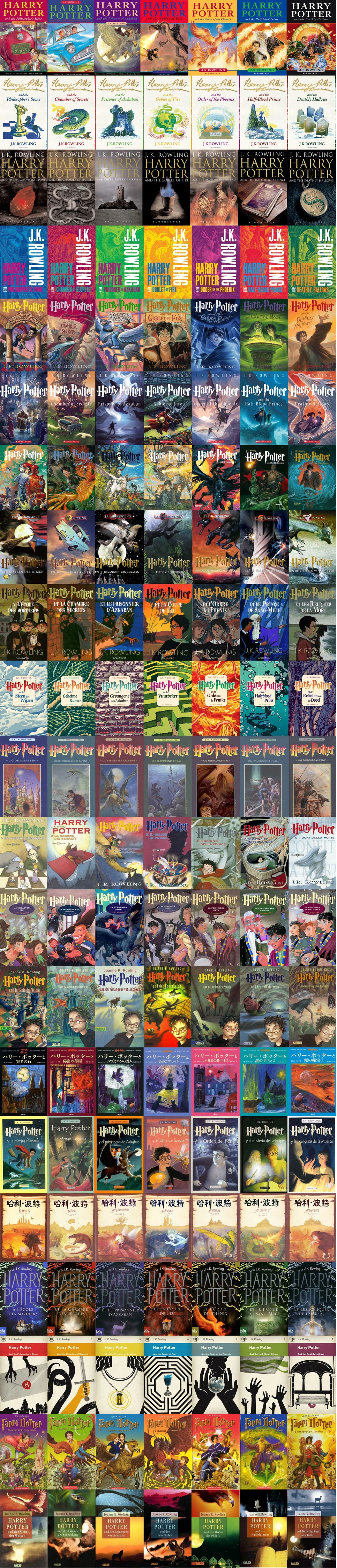 Book Cover Art Styles : Harry potter covers from around the world