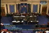 Still frame from: Senate Proceeding 12-13-11